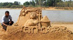 Sri Hevalambi Ugadi Sand Sculpture