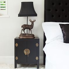 grey chinese bedside table - Google Search