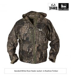 279ffad4d2f47 New Realtree Timber | Banded White River Rader Jacket Bow Hunting,  Camouflage, Motorcycle Jacket