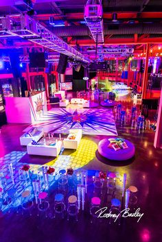 Industrial | Dance Floor | Pop Art Party | Sweet Sixteen | Birthday Party | Colorful | Steel Stacks | Pennsylvania | Rodney Bailey Photojournalism | Magnolia Bluebird design & events | Washington D.C.
