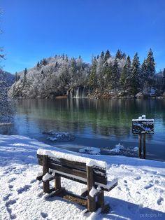 Beautiful #winter scene from #Plitvice Lakes #Croatia ❄️☃️ #UNESCO #naturephotography #travel