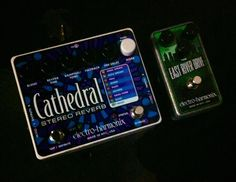 Oliver Royer Electroharmonix pedals for touring. He never goes anywhere without these!