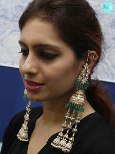 17 Polki Jadav Earrings For Every Occasion – Styleprer Jhumki Earrings, Drop Earrings, Wedding Accessories, Jewelry Accessories, Heavy Earrings, Uncut Diamond, Bling Bling, Diamond Jewelry, Fashion Ideas