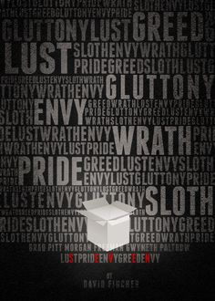 Cool movie poster for Se7en starring Brad Pitt and Morgan Freeman. // seven deadly sins