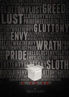 Cool movie poster for Se7en starring Brad Pitt and Morgan Freeman. // seven deadly sins