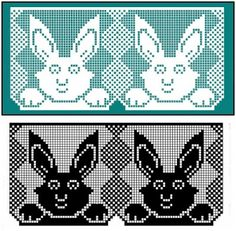 I miei lavori all'uncinetto: Bordo con coniglietti