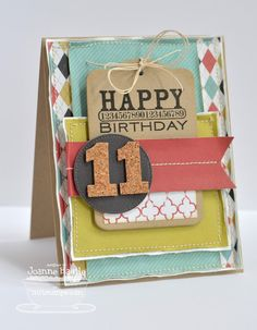 Time Flies!  A Deconstructed Birthday Card from  ...just a little something.... by Joanne Basile