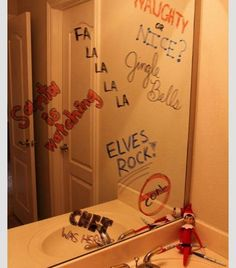 Writing on the mirror...