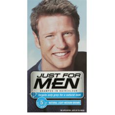 Just For Men Shampoo In Haircolour Light Medium Brown (H-30)  £6.85 (FREE UK Delivery)  http://www.123hairandbeauty.co.uk/hair-products-c1/mens-c8/just-for-men-just-for-men-shampoo-in-haircolour-natural-medium-brown-h-35-p525