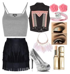 """""""✌️"""" by mallycrawley on Polyvore featuring Topshop, H&M, Dollydagger, Allurez and Guerlain"""