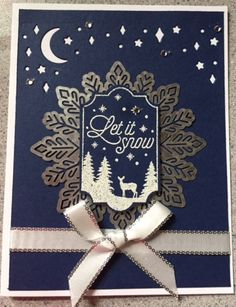 I just love navy, white and silver together. We started with just the let it snow and built on from there. I did the same thing with Elegant eggplant instead of Navy and love it just as much.