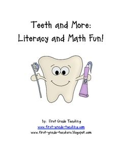 This unit contains activities for Dental Health and Teeth units. Activities include a classroom reader, decodable readers, math games, and writing activities. Health Unit, Health Literacy, First Grade Lessons, Reading Themes, Human Body Unit, Science Education, Health Education, Physical Education, Writing Activities