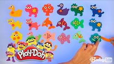 Плей До (Play Doh). Вырезаем зверей из пластилина Плей До (Play Doh), Уч...