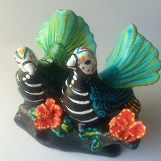 Dove birds Day of the Dead sculpture Dia de los by SpiritofAine