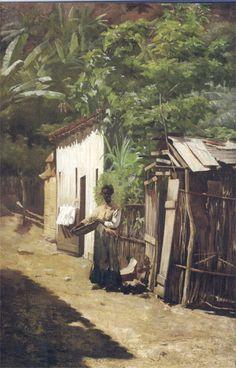 UMA RUA DA FAVELA - OST-72x41-c.1890-COLEÇÃO PARTICULAR