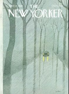 Driving in the rain, cover art | The New Yorker, April 14, 1980