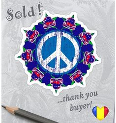 Sold!!! 😃 ..thanks to the person in District Sector 4, Romania 🇷🇴 who recently bought this 'Beetle Peace' sticker design from my Redbubble webshop ☮️ (follow link in photo or in bio @theartgarage_fin ) . . #graphicdesign #artist #redbubblestickers #hippystyle #art #stickers #cars #peaceman #hippysticker #sold #sales #vwbeetle #beetlefans #peacesymbol #volkswagen #instasale #romania #instasold #symbols #instalike #thankyou #redbubble #vwfan #peace #love #hoganredbubble #theartgaragefinland Red Bubble Stickers, Hippie Style, Sticker Design, Romania, Beetle, Volkswagen, Thankful, Symbols, Peace
