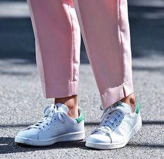 Stan Smith + pantalon rose