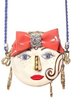 Ines Figaredo - Collection Aperture - Small girl face- Vale a pena conferir as outras bolsas da designer Inés Figaredo! Lindas! http://www.inesfigaredo.com