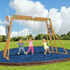 Creative Playthings Playtime Classic 2 - This Classic Swing Set comes complete with Freestanding Monkey Bars, Sling Swings and Ring Trapeze. As part of our Playtime Line, this great Creative Playthings Swing Set also includes a 10 Year Limited Warranty. Walpole Outdoors, Family Leisure, Wooden Playset, Backyard Trampoline, Outdoor Games, Ladder, Things That Bounce, Classic, Creative