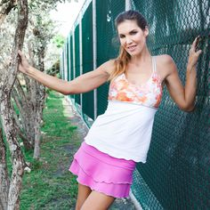 Spaghetti-Strap Top by Denise Cronwall, Denise Cronwall Activewear Catalina Collection, #activewear, #tennis, #fitness, #workout, #apparel, #style, #fashion, #unique, #boutique, #training, #pants, #bra, #top, #designer, #skirt, #athleisure