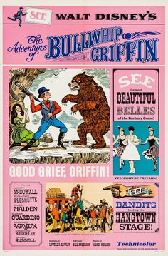 The Adventures of Bullwhip Griffin posters for sale online. Buy The Adventures of Bullwhip Griffin movie posters from Movie Poster Shop. We're your movie poster source for new releases and vintage movie posters. Walt Disney Movies, Classic Disney Movies, Disney Movie Posters, Classic Movie Posters, Film Posters, Sale Poster, Vintage Advertisements, Vintage Ads, Vintage Disney