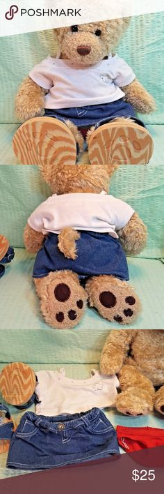 Build a Bear Jean Skirt with Heart Stitching