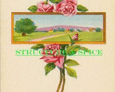 "Antique ""A Birthday Wish"" Postcard With a Beautiful Country Farm Framed in Pink Rose Blossoms. This Blank Card is Circa - Edit Listing - Etsy Birthday Roses, Happy Birthday, Vintage Birthday Cards, Country Farm, Blank Cards, Vintage Postcards, Marketing And Advertising, Blossoms, Create Yourself"