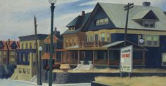 View East Wind Over Weehawken by Edward Hopper on artnet. Browse upcoming and past auction lots by Edward Hopper. Edward Hopper Obras, Edward Hopper Paintings, American Realism, American Artists, Manet, Edouard Hopper, Ashcan School, Surreal Art, Pilgrim