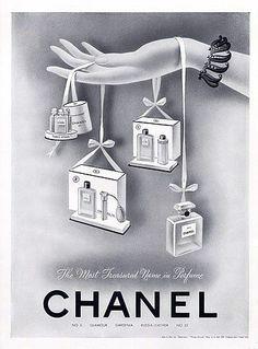 ad for Chanel perfume- 1942 - Chanel Cosmetics - Ideas of Chanel Cosmetics Trending Chanel Cosmetics - ad for Chanel perfume- 1942 Vintage Couture, Vintage Chanel, Vintage Beauty, Vintage Ads, Vintage Images, Vintage Paper, Perfume Chanel, Perfume Ad, Perfume Bottles