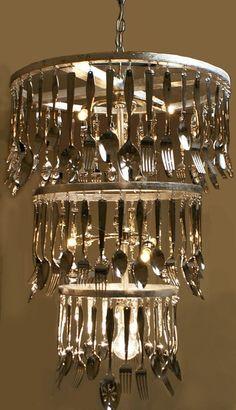 Just ove this idea! #Chandelier #Lighting #Lamp  #LightBulb