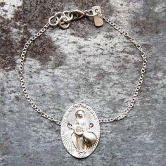 Bracelet Exvoto en argent par Laurence Oppermann pour l'Atelier des Bijoux Créateurs.