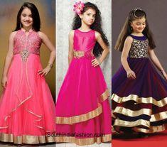 Indo western kids wedding fashion 1 600x529 Golden Lehnga, Wedding With Kids, Prom Dresses, Formal Dresses, Western Dresses, Half Saree, Wedding Styles, Kids Fashion, That Look