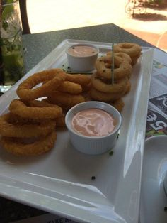 Onion Rings and Calamary - amazing!