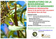 PRESENTACIÓN DEL OBSERVATORIO DE LA BIODIVERSIDAD DE HOYO DE MANZANARES
