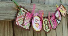 Birthday owl banner