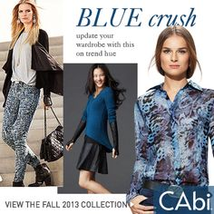 What's your color crush? Blue Crush #CAbi Fall 2013