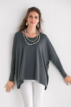 The fabric remains smooth and wrinkle-free no matter what, making it especially great for travel. Matte Jersey Scoop Neck Tee by Planet: Knit Tee available at www.artfulhome.com