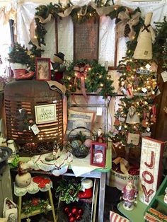 Christmas 2015 booth display at Isaac's Rusty Wagon. Energy IL.