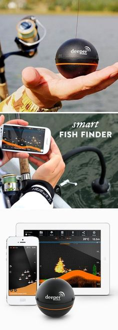 This castable, Bluetooth-enabled fish finder is designed to go anywhere, sending images and information about the waters below straight to your phone or tablet. See water depth, location and size of fish, the contour of the waterbed, forecasts and more.