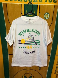 Vintage Wimbledon Tennis 1995 T Shirt Large Medium Purple Sports England London Vintage Tennis Vintage Sportswear Wimbledon Tennis