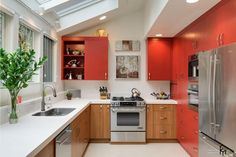 Modern skylight windows open up kitchen interiors, create comfortable, bright and stylish spaces