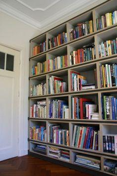 Modulaire boekenkast op maat, zelf te monteren