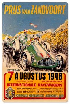 Vintage Zanvoort Grand Prix 24 x 16 inches Tin Sign, $58.97 (http://www.jackandfriends.com/vintage-zanvoort-grand-prix-24-x-16-inches-tin-sign/)