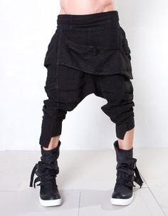 Schlabberhose schwarz.