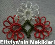 Mehr als 50 neueste Modelle von Shuttle Lace 2017 - # Tatting Tutorial, Needle Tatting, New Model, Art Nouveau, Christmas Wreaths, Diy And Crafts, Holiday Decor, Lace, Pattern