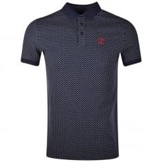 Barbour Navy Ewan Polka Dot Polo Shirt. Available now at www.brother2brother.co.uk