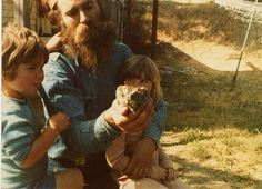 even the creatures of the forest naturally trust bearded men.