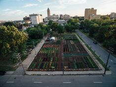 The Michigan Urban Farming Initiative is debuting a sustainable urban agrihood in Detroit, and are transforming an abandoned building into a community center. Urban Agriculture, Urban Farming, Urban Gardening, What Is Urban, Barcelona Architecture, Vertical Farming, Urban Setting, Farm Gardens, Edible Garden