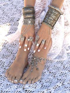 Boho Jewelry. Foot Jewelry. Gypsy. Hippie. Bohemian Style